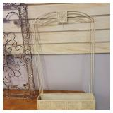 Beautiful Shabby Chic Metal Decorative Wall Hanging and Wall Shelf