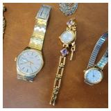 Assorted Vintage Gold-Plated Jewelry Collection