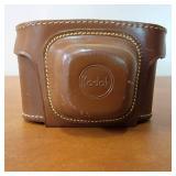 Vintage 1950s Kodak Pony 828 Camera in Leather Case