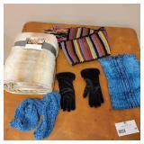 Scarves, Throw Blanket, Gloves