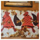 3 Decorative Art Paintings, and Art Fabric