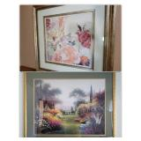 2 Beautiful Print in Gold Baroque Frames