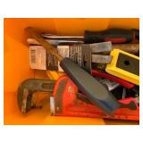 Plastic Tool Box with Tool Contents
