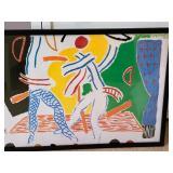 Hockney Paints the Stage - Walker Arts Center Framed Print