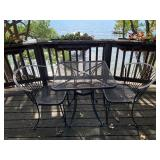 Outdoor Metal Table and Two Chairs