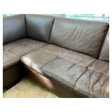 W. Schilling San Tropez Sectional in Chocolate Brown