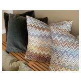 Eight Decorative Throw Pillows including Missoni