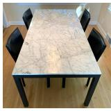 Room and Board Portica Dining Table & Four Room and Board Milan Chairs