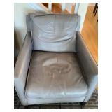 Pair of Room and Board Bram Chair in Lagoon Smoke