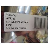 """10 11"""" ALU PLATTERS BY """"WINCO"""""""