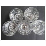 5 THICK GLASS SHOT GLASSES
