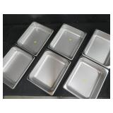 """6 NEW """"POLAR WARE"""" STAINLESS STEEL PANS"""