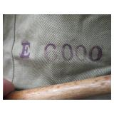 THICK WOOL MILITARY JACKET AND COOL OLD TRUNK