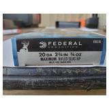 """Federal 20 ga 2 3/4 """" Rifled Slug"""