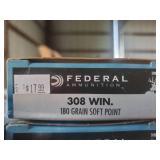 Federal 308 Win. 180 Grain Soft Point