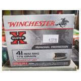Winchester 41 REM MAG 175 Grain Silvertip JHP