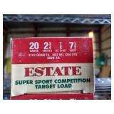 Estate 20 Gauge 2 3/4 7 1/2 Shot