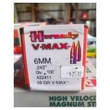 """Hornady 6MM .243"""" 58 GR V-Max Bullets"""