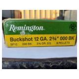 "Remington Buckshot 12 GA. 2 3/4"" 000 BK"