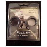 Weaver 30 MM X-High Black Matte Tactical