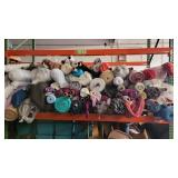 Pallet Rack of 100's of Bulk Yards of Poly Blend Fabric Rolls Lot I