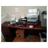 Solid Wood 2 Section Office Desk Wi...