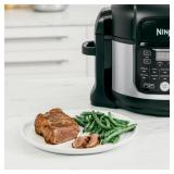 Ninja - Foodi® 11-in-1 6.5-qt Pro Pressure Cooker + Air Fryer with Stainless finish, FD302 - Stainless Steel