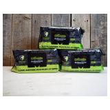 3 Packs of The tough, wet & mean Crocodile Clothes. Not just great for sanitation but also fights and cleans grime.