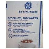 GE - 0.7 Cu. Ft. Compact Microwave - Stainless steel