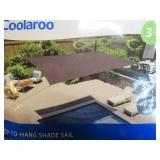 Coolaroo Sun Shade 13 x 7 Rectangle Shade Sail Canopy (Pewter)