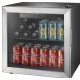 Insignia™ - 48-Can Beverage Cooler - Stainless steel/Silver