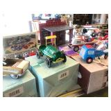 Lot of Kiddie Car Collection Vintage Style Tin Toys