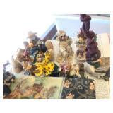 Contents of Countertop - Cherished Teddies Lusterware etc