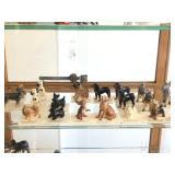 Entire Contents of Display Cabinet - Hagen-Renaker Miniature Animals