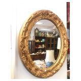 Round Gold Framed Decor Mirror