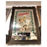 Large Vintage OLYMPIA BEER Advertising Bar Mirror