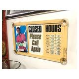 Vintage KOOL Mild Cigarettes Store Hours Advertising Gas Station Sign