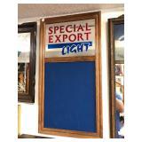 Vintage SPECIAL EXPORT Light Mirror/Chalkboard Beer Sign