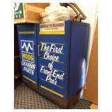 Vintage Moog Chassis & Parts Metal Service Station Advertising Cabinet