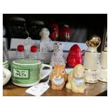 Entire Contents of Cabinet - Many Salt & Pepper Shakers
