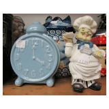 Entire Contents of Shelf - Vintage Cookie Jars & Kitchen Items