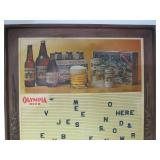 Vintage OLYMPIA BEER Sign Board w/Letters