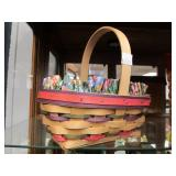 Large Group of LONGABERGER Baskets & Accessories