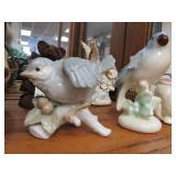 Contents of Shelf - Hand Made Teddy Bears Bird Figurines etc