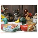 Contents of Shelf - Duck Figurines etc
