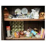 Contents of 2 Shelves  - Assorted Collectibles