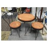 Vintage Lamp Table - Larger Doll Furniture & Ice Cream Parlor Table