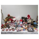 Entire Contents of Table - Assorted Collectibles Holiday etc