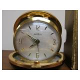 Nice Vintage Passport by Seth Thomas Leather Clad Travel Alarm Clock