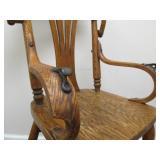 Nice Antique Oak High Chair